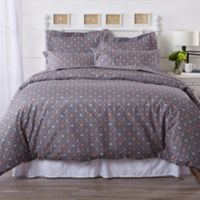 Great Bay Home St. Croix Coastal Twin Duvet Cover Set in Grey