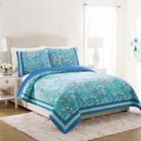 Vera Bradley® Daisy Dot Paisley Twin Quilt in Turquoise