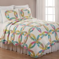 Emma Wedding Ring Reversible Full/Queen Quilt Set in Green