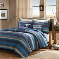 Madison Park Yosemite Quilted Full/Queen Coverlet Set in Blue