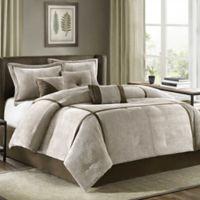 Madison Park Dallas 7-Piece Queen Comforter Set in Khaki
