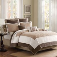 Madison Park Attingham Full/Queen Coverlet Set in Beige