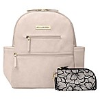 Petunia Pickle Bottom® Ace Backpack Diaper Bag in Ivory Matte Leatherette