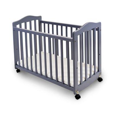 Baby Furniture U003e LA Baby® The Original Bedside Manor Convertible Crib In  Grey