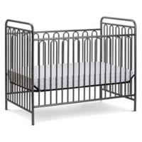 LA Baby® Trinity 3-in-1 Convertible Crib in Grey Pebble