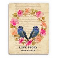 Astra Art Love Story Cool 11-Inch x 14-Inch Wood Wall Art