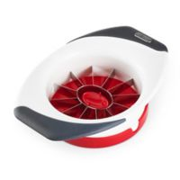 Zyliss® Easy Slice Peach Slicer in White Multi
