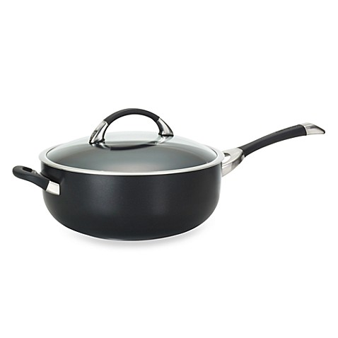 Circulon® Symmetry™ Black 6-Quart Covered Chef Pan