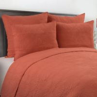Scallop Shell Twin Quilt Set in Coral