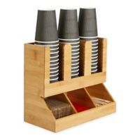 Mind Reader 6-Compartment Upright Coffee Condiment Organizer In Brown