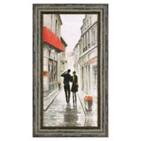 Walk to the Town II 25-Inch x 14-Inch Framed Wall Art