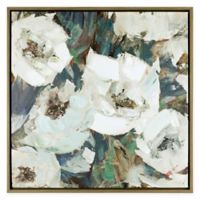 ArtMaison Canada Floral Charm II 28-Inch Square Framed Canvas Wall Art
