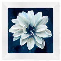 Indigo Floral I 13-Inch Square Framed Wall Art