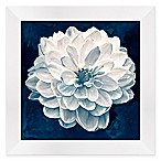 Indigo Floral II 13-Inch Square Framed Wall Art