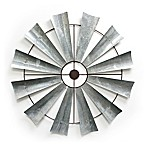 Ronyn Windmill 36-Inch Round Metal Wall Art