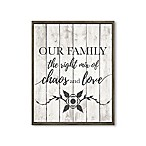 """Our Family"" 28-Inch x 22-Inch Framed Wall Art"