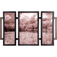 "ArtMaison Canada ""Silent Lake Triptych"" Framed Print Wall Art"