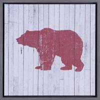 "ArtMaison Canada ""Red Bear I"" Framed Canvas Wall Art"