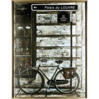 "ArtMaison Canada ""The Bicycle III"" Framed Canvas Wall Art"
