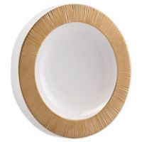 Zuo® Modern Plato 16-Inch Round Mirror in Gold/White