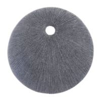 Round Eye 15-Inch Plaque in Dark Grey