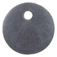Round Eye 30-Inch Plaque in Dark Grey
