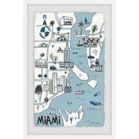 Marmont Hill Miami Landmarks 30-Inch x 45-Inch Framed Wall Art