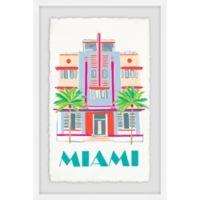 Marmont Hill Miami Art Deco 24-Inch x 16-Inch Framed Wall Art
