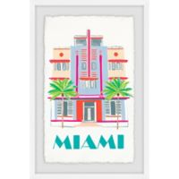 Marmont Hill Miami Art Deco 30-Inch x 20-Inch Framed Wall Art