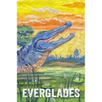 Marmont Hill Everglades Poster II 20-Inch x 30-Inch Canvas Wall Art