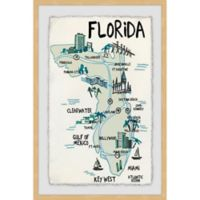 Marmont Hill Landmarks in Florida 20-Inch x 30-Inch Framed Wall Art