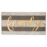 "Primitives By Kathy® ""family"" 12-Inch x 6-Inch Wood Wall Art"