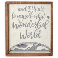Primitives By Kathy® What a Wonderful World 12-Inch x 14-Inch Wood Wall Art