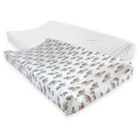 Touched by Nature® Elephants Organic Cotton Changing Pad Covers (Set of 2)