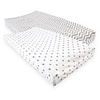 Luvable Friends® Chevron & Dots Changing Pad Covers in Grey (Set of 2)