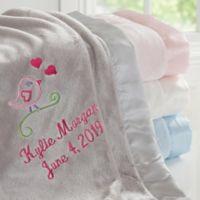 Sweet Bird Embroidered Baby Blanket
