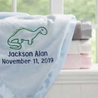 Dinosaur Embroidered Baby Blanket