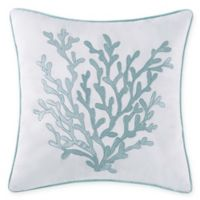 Oceanfront Resort Cove 18-Inch Square Throw Pillow in White/Blue