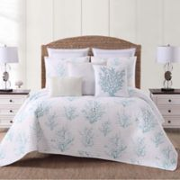 Oceanfront Resort Cove Full/Queen Quilt Set in White/Blue