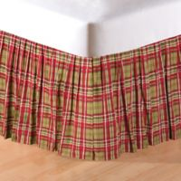 Kellyn Queen Bed Skirt in Red/Green