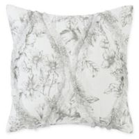 Laura Ashley® Lena Square Throw Pillow in Grey