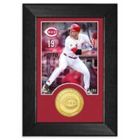 MLB Joey Votto Bronze Coin Mini Photo Mint