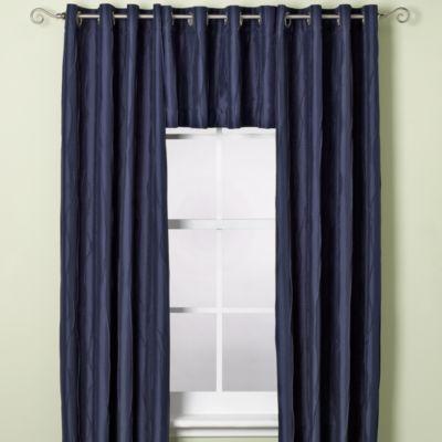Venice Window Curtain Valance in Navy