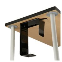 Mind Reader Under-Desk Adjustable Computer Tower Holder in Black