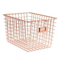 Spectrum Small Metal Storage Basket in Copper