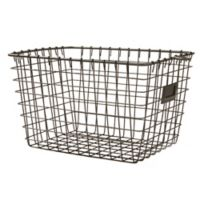 Spectrum Small Metal Storage Basket in Grey