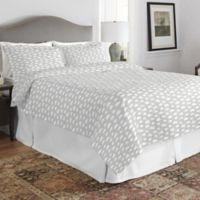 Pointehaven Clouds Twin/Twin XL Quilt Set in Grey/White