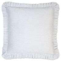 Ticking European Pillow Sham in Blue