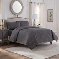 Valeron Caruso King Coverlet in Charcoal