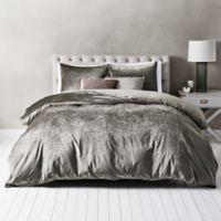 Wamsutta® Velvet Twin Duvet Cover Set in Mushroom